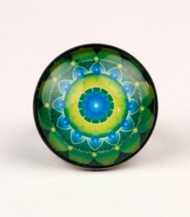 Anillo Mandala Verde