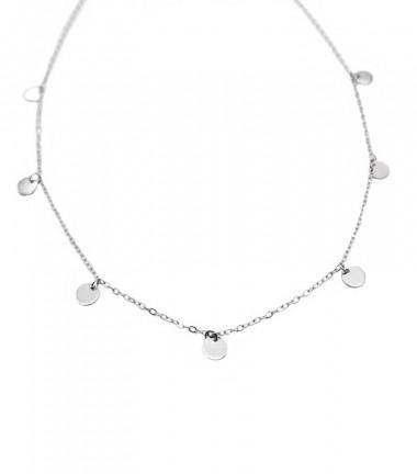 Collar Cadena Plaquitas Plata