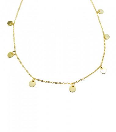 Collar Cadena Plaquitas Oro