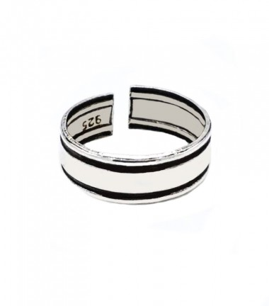 Anillo Pie Doble Linea