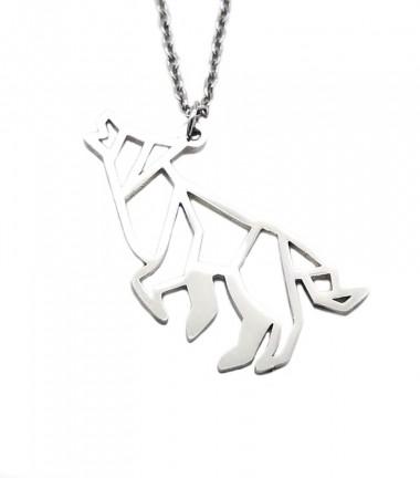 Collar Lobo Origami