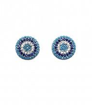 Pendientes Circonitas Azules