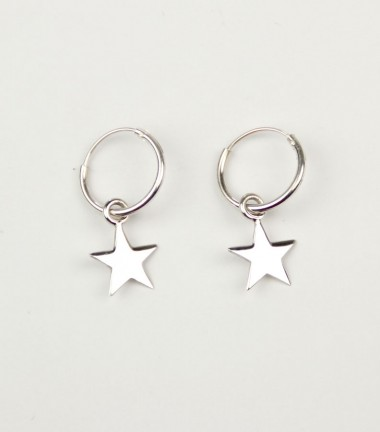 Pendientes Aro Estrella